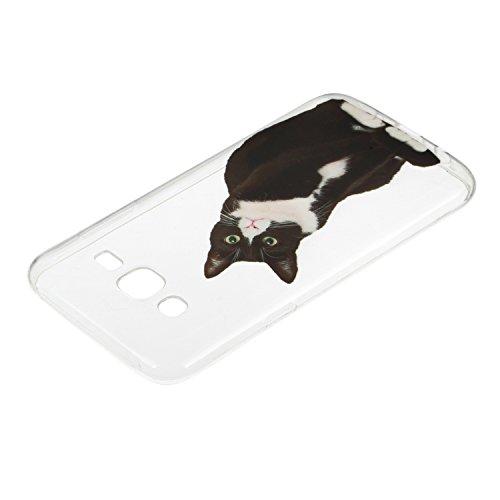 Samsung Galaxy J5 (2015) / J500 Hülle Silikon, Lomogo Schutzhülle Durchsichtig mit Muster Stoßfest Kratzfest Handyhülle Case für Samsung Galaxy J5 (2015) - LOHEX21884 #7 #5