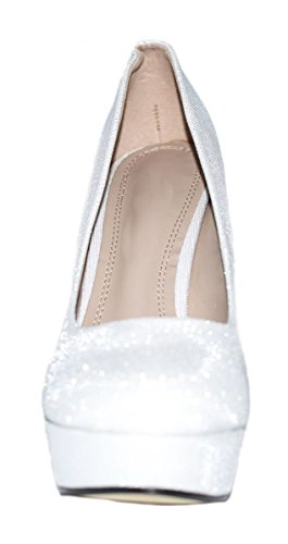 compensées Elara femme chaussures Elara chaussures Blanc zwvxqOgw