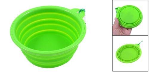 Amazon.com: eDealMax Perro Gato de silicona Suave plegable del hogar perrito del Animal doméstico agua de la Taza, Verde: Pet Supplies
