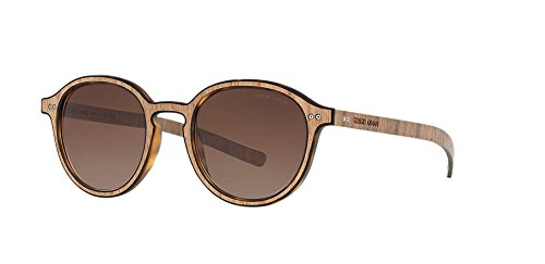 GIORGIO ARMANI AR8081 - 552713 Sunglasses MATTE HAVANA/WOOD NUT 48mm -