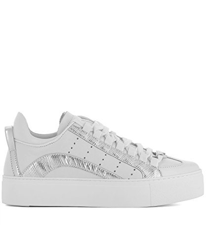 Dsquared2 Damen Snw000310650001m241 Weiss Leder Sneakers