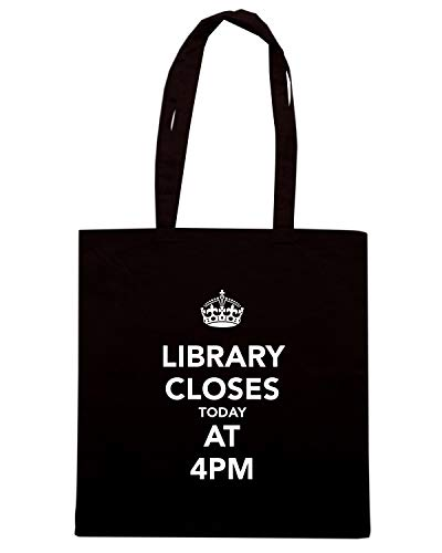 TKC0291 CALM Speed TODAY AND LIBRARY 4PM Nera AT CLOSES Borsa Shopper KEEP Shirt URR4qI
