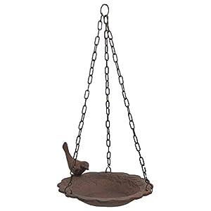 Hanging Birdbath Feeder Cast Iron Patio Garden Yard 40