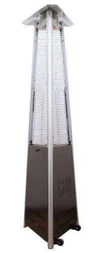 AZ Patio Heaters Natural Commercial Gas Glass Tube Patio Heater