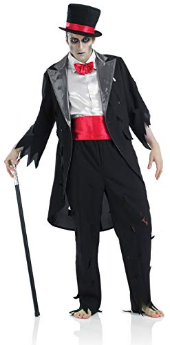 fun shack Mens Corpse Groom Costume Black Zombie Wedding Suit - X-Large ()