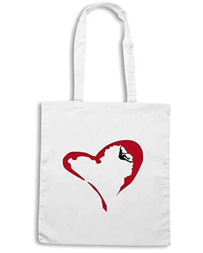 T-Shirtshock - Bolsa para la compra OLDENG00101 heart climber Blanco
