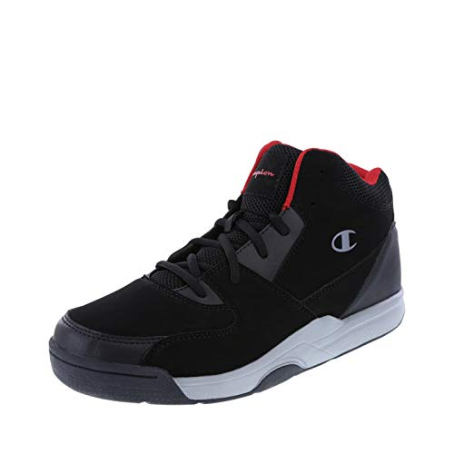 Champion Men's Black Red Men's Overtime Basketball Shoe 8.5 Regular (Champions Sneakers Men)