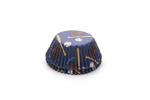 Fox Run 6991 Baseball Bake Cups, Standard, 50 (Baseball Cupcake)