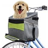 FurryFriends Dog Bike Basket/Pet Carrier/Soft Bag with Pockets and Strap