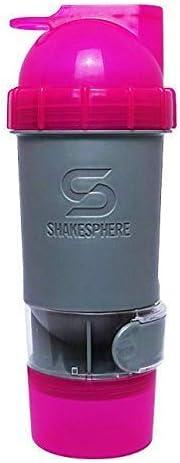 ShakeSphere Coctelera de Proteína Botellas con Almacenamiento Compartimento para Suplementos & Botanas. 700Ml Capacidad sin Mezclador Bola o Malla ...