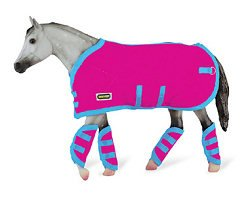 Reeves Breyer Tack Blanket & Shipping Boots - Hot Pink! (Equipment Play Barn)