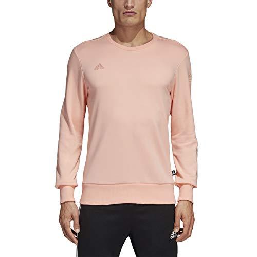 (adidas Tango Crew Sweatshirt - Men's Soccer L Haze Coral)