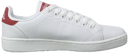 Kappa COURT Footwear unisex - zapatilla deportiva de material sintético Unisex adulto Blanco (1020 White/red)