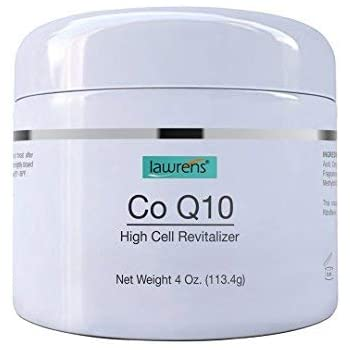 Co-Q10 High Cell Revitalizer Cream with Vitamin B2 by Lawrens Cosmetics - High cell revitalizer, face cream, wrinkles reducer, skin energizer, 24hr moisture - 4 oz