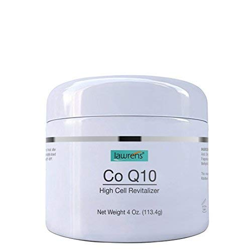 Co-Q10 High Cell Revitalizer Cream with Vitamin B2 by Lawrens Cosmetics - High cell revitalizer, face cream, wrinkles reducer, skin energizer, 24hr moisture - 4 oz