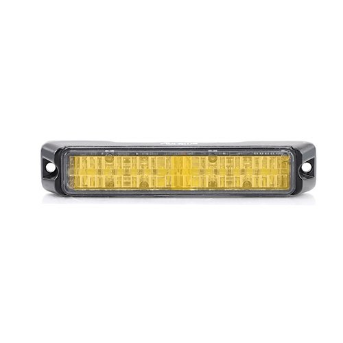 Abrams SAE Class-1 Flex (Amber/Amber) 36W - 12 LED Tow Truck Construction Vehicle LED Grille Light Head Surface Mount Strobe Warning Light