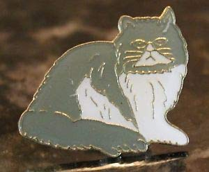 Handsome Enamel Lapel pins - Black White Kitty Cat Animal Lapel Lady Pin Pet Colar - Unique Pins and Brooches
