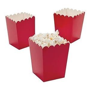 Amazon.com: Mini Popcorn Boxes - Red - Teacher Resources & Birthday Supplies - 2 dozen: Toys & Games