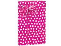 Hot Pink & White Polka Dot Gift Wrap Wrapping Paper 16 Foot Roll ()