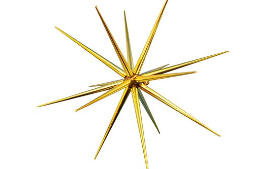 (8'' Christmas Star Ornament Gold Plastic Hanging Tree Decoration Party Holiday Starbursts)
