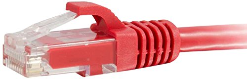 C2G/Cables to Go 27184 Cat6 Snagless Unshielded (UTP) Network Patch Cable, Red (14 Feet/4.26 Meters) (Patch 14' Cord Red)