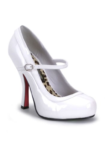 Fetish Shoes Platform (Funtasma by Pleaser Women's Pretty-50/W Mary Jane Pump,White Patent,12 M US)