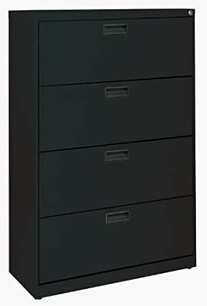 plastic file cabinets sandusky 400 series black steel lateral file 24782