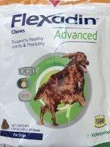 Vetoquinol Flexadin Advanced with UC-II for Dogs & Cats, 60 Chews by Vetoquinol