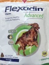 Vetoquinol Flexadin Advanced with UC-II for Dogs & Cats, 60 Chews