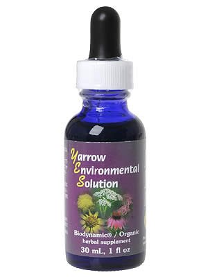 FLOWER ESSENCE SERVICES Yarrow Environmental Solution Dropper, 1 Ounce
