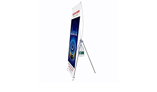 Size : 80180cm Jinxin-Office Supplies X-Shaped Advertising Display Rack Poster Stand Suitable for Wedding Welcome Advertising,Gray