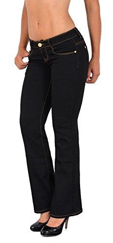 ESRA Jean Femme Bootcut Jeans Pantalon Grandes Tailles Actuelles Designs DD Typ-j234