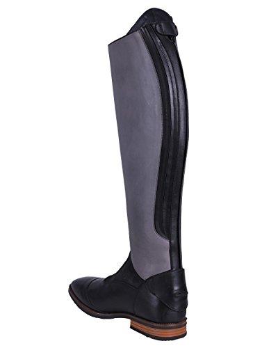 Lederfarben Schwarz Grau Shiva Damen QHP mit Wadenweite Normale Zwei Luxus Lederreitstiefel Verschiedenen BZavnP0q