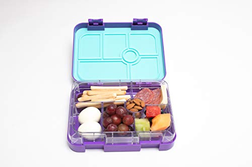 Purple 6 Compartment- Bento Box-For kids- Leakproof-Ideal for Balanced Meal lovers-BPA FREE and Food Safe Material]()