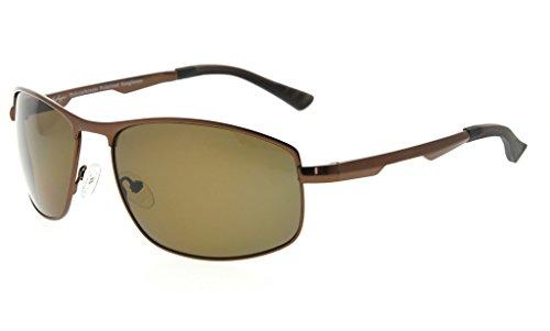 Eyekepper Lunettes de soleil Metal monture verres en Polycarbonate verres  Polarisees lunettes soleil pour hommes femmes c163a8262dd7