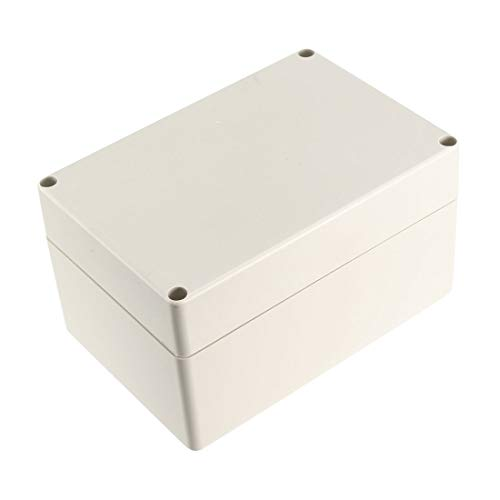 Uxcell a15101600ux0119 Outdoor Plastic Enclosure Industrial Project Junction Box 160x110x90mm, Carbonsteel/Rubber ()