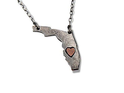 Florida Heart - ANJU JEWELRY My Heart Belongs to Florida Necklace