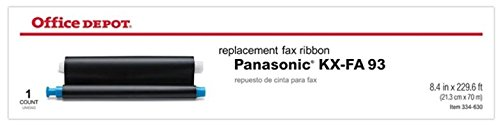 Office Depot Brand KX-FA 93 Replacement Fax Ribbon for Use with Panasonic (TM) KX-FHD 331, 332, 351 Machines