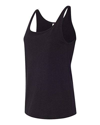 Bella 6488 Womens Relaxed Jersey Tank - Black, Medium
