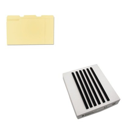 KITCLI34441UNV12113 - Value Kit - C-line Slide N Grip Binding Bars (CLI34441) and Universal File Folders (UNV12113)