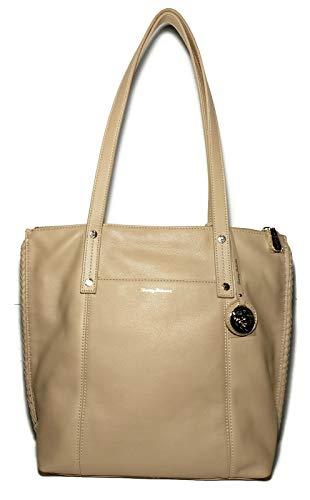 TOMMY BAHAMA Wheat Tan Lido Key Leather Handbag Tote