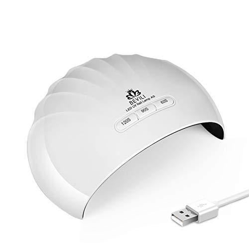 36W UV Light LED Nail Dryer Curing Lamp for Fingernail & Toenail Gels Based Polishes with Sensor, 60s 90s 120S Timer(White)