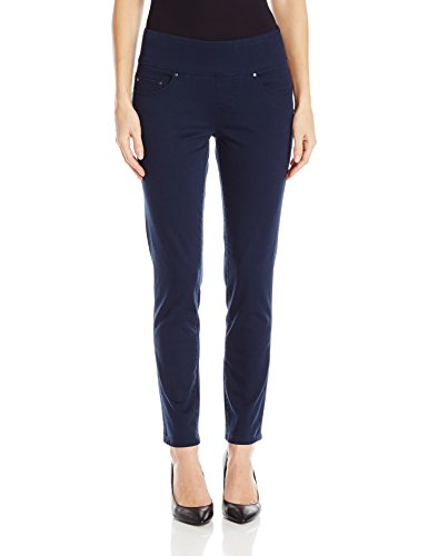(Jag Jeans Women's Amelia Slim Ankle Pull on Jean, Nautical Navy,)