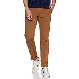 Indian Terrain Men's Slim Fit Casual Trousers