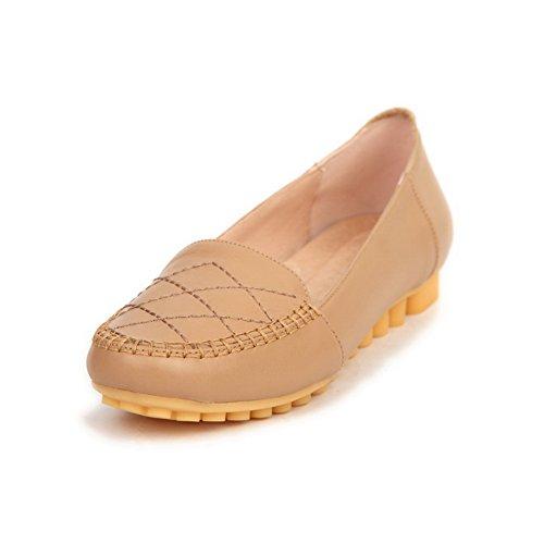 BalaMasa donna, senza tacco Imitated in pelle pumps-shoes, Beige (apricot), 35 EU