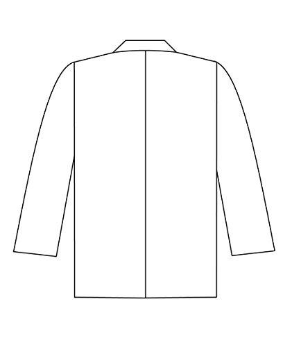 Panda Uniform Custom Consultant Lab Coat For Men's 32-Inch length-Sky Blue-XL by Panda Uniform (Image #6)