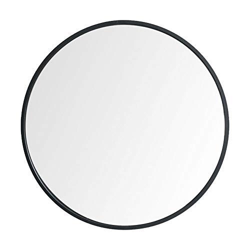 Black Metal Bedroom Vanity - Beauty4U Large Circle Metal Frame Mirror, 19.7