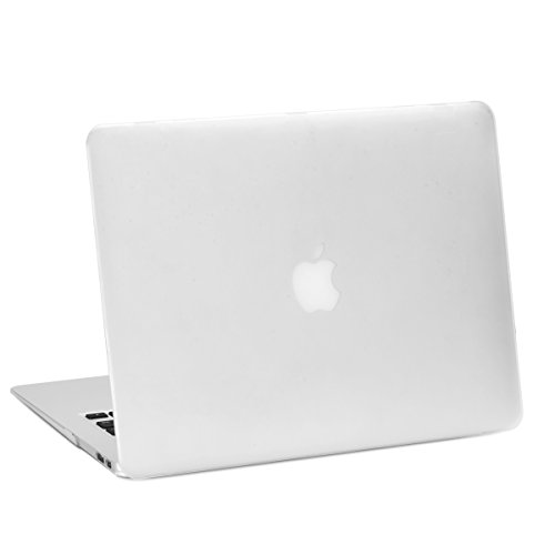 """TOP CASE - Rubberized Hard Case Cover for Macbook Air 13"""" (A1369 and A1466) - Clear"""