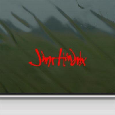 Macbook Decor Wall Art Decoration Red Helmet Car Laptop Sticker Notebook Wall Adhesive Vinyl Jimi Hendrix Signature Guitar Logo Bike
