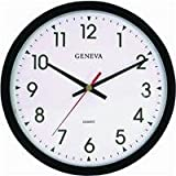 14 Blk Plstc Quartz Wall Clock Geneva Review